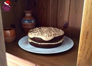 Tarta de chocolate con crema de caramelo salado