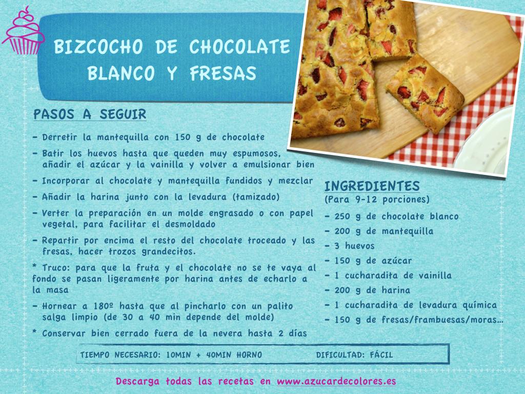 Bizcocho de chocolate blanco y fresas.001